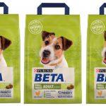 Eddie en los paquetes de comida de Purina BETA