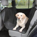Cubierta protectora impermeable de asiento trasero para mascotas, color negro